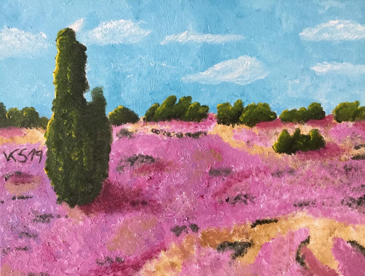 Landschaftsbild auf Wasserfarbe von Kristof Schöps